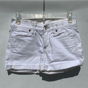 Madewell White Denim Shorts 24